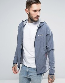 Columbia Heather Canyon Softshell Jacket Hooded In Navy Marl afbeelding