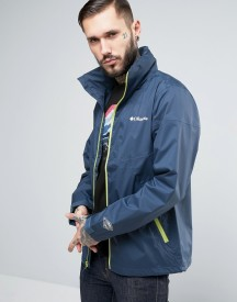 Columbia Inner Limits Hooded Jacket Waterproof Tricolour In Navy afbeelding