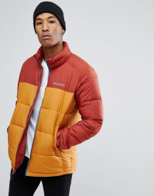 Columbia Pike Lake Puffer Jacket In Red/gold afbeelding