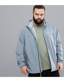 Columbia Plus Size Heather Canyon Water Resistant Hooded Jacket In Grey afbeelding