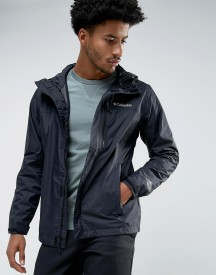 Columbia Pouring Adventure Hooded Jacket Waterproof In Black afbeelding