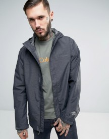 Columbia Watertight Hooded Jacket In Black Marl afbeelding