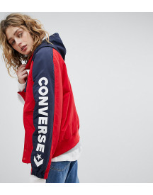 Converse Boat Jacket In Red With Arm Logo afbeelding