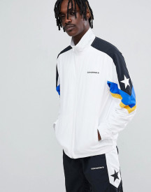 Converse Colour Block Track Jacket In White 10006473-a01 afbeelding