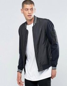 Converse Mix Fabric Bomber In Black 10001108-a01 afbeelding