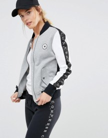 Converse Monochrome Bomber Jacket With Taped Seam afbeelding