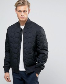 Converse Quilted Bomber Jacket In Black 10003390-a01 afbeelding
