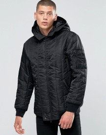 Converse Quilted Ma-1 Jacket In Black 10001142-a01 afbeelding