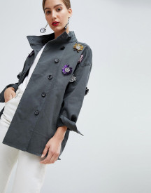 Custommade Military Jacket With Embellishment afbeelding