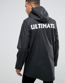 D-struct Water Resistant Festival Jacket With Hood And Back Print afbeelding