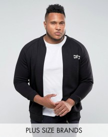 Defend London Plus Jersey Bomber Jacket In Black afbeelding