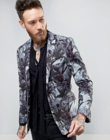 Devils Advocate Skinny Fit 70's Palm Jacket afbeelding