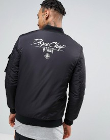 Dxpe Chef Bomber Jacket With Back Print afbeelding