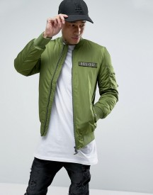 Dxpe Chef Bomber Jacket With Military Patches afbeelding