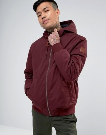 Element Dulcey Hooded Bomber Jacket In Burgundy afbeelding