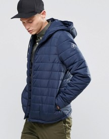 Element Hayden Hooded Quilt Jacket Navy afbeelding