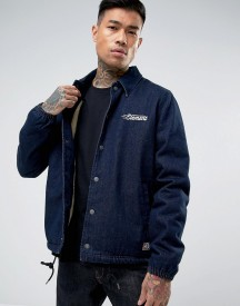 Element Murray Logo Denim Coach Jacket afbeelding