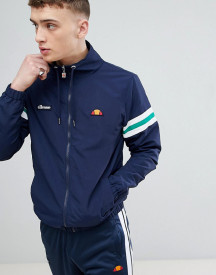 Ellesse Funnel Neck Jacket With Sleeve Stripe In Navy afbeelding
