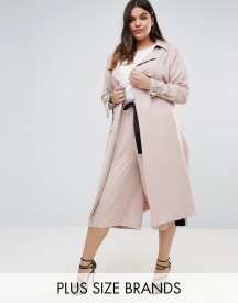 Elvi Premium Trench Coat With Contrast Stripe afbeelding