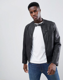 Esprit Faux Leather Jacket With Biker Collar afbeelding