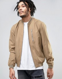 Esprit Lightweight Bomber Jacket With Chest Pocket afbeelding