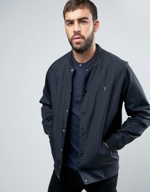 Farah Bellinger Nylon Bomber Jacket In Black afbeelding