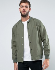 Farah Bellinger Nylon Bomber Jacket In Green afbeelding