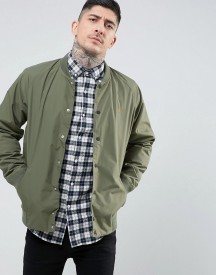Farah Bellinger Zip Through Nylon Bomber In Green afbeelding
