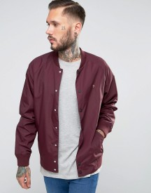 Farah Bomber Jacket In Bordeaux Nylon afbeelding