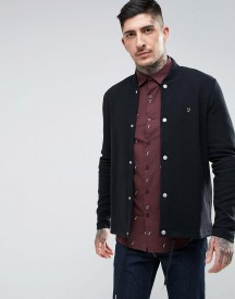 Farah Charecroft Slim Fit Bonded Bomber In Black afbeelding