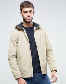 Farah Newbern Hooded Rain Jacket In Beige afbeelding