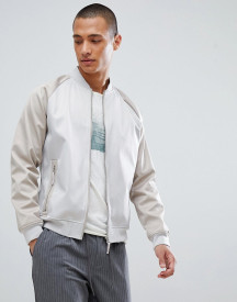 For Sporty Bomber Jacket In Stone afbeelding