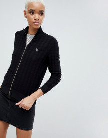 Fred Perry Houndstooth Knitted Jacket afbeelding