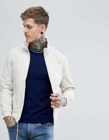 Fred Perry Lightweight Tonal Sports Jacket In Off White afbeelding