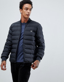 Fred Perry Padded Bomber Jacket In Black afbeelding