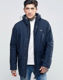 Fred Perry Parka In Bright Navy afbeelding