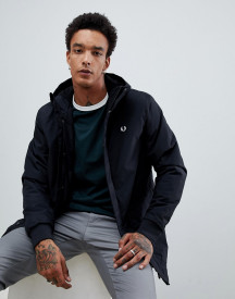 Fred Perry Stockport Hooded Parka Jacket In Black afbeelding