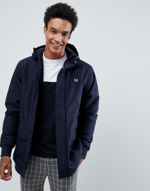 Fred Perry Stockport Hooded Parka Jacket In Navy afbeelding