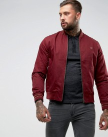 Fred Perry Tipped Bomber Jacket In Red afbeelding
