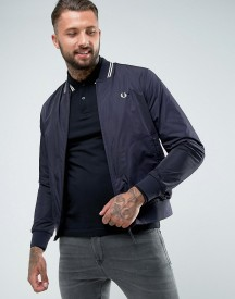 Fred Perry Twin Tipped Bomber Jacket In Navy afbeelding