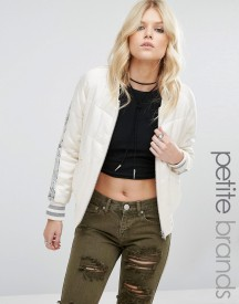 Glamorous Petite Quilted Staeen Relaxed Bomber With Sequin Stripe afbeelding
