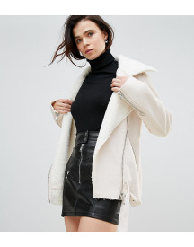 Glamorous Tall Jacket In Faux Shearling afbeelding