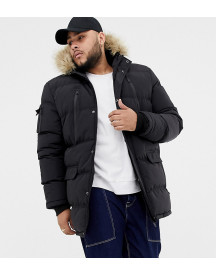 Good For Nothing Parka Coat In Black Exclusive To Asos afbeelding