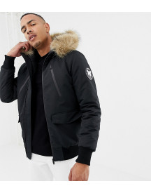 Good For Nothing Parka Jacket In Black Exclusive To Asos afbeelding