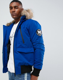 Good For Nothing Parka Jacket In Blue afbeelding