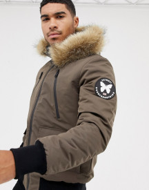 Good For Nothing Parka Jacket In Brown afbeelding