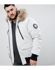 Good For Nothing Parka Jacket In Stone Exclusive To Asos afbeelding