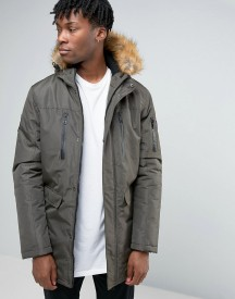 Good For Nothing Parka With Faux Fur Hood afbeelding