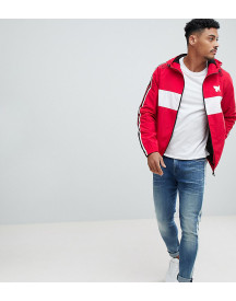 Good For Nothing Windbreaker In Red With Side Stripe Exclusive To Asos afbeelding