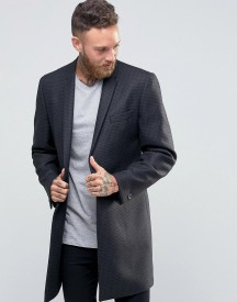 Hart Hollywood By Nick Hart 1b Check Overcoat afbeelding